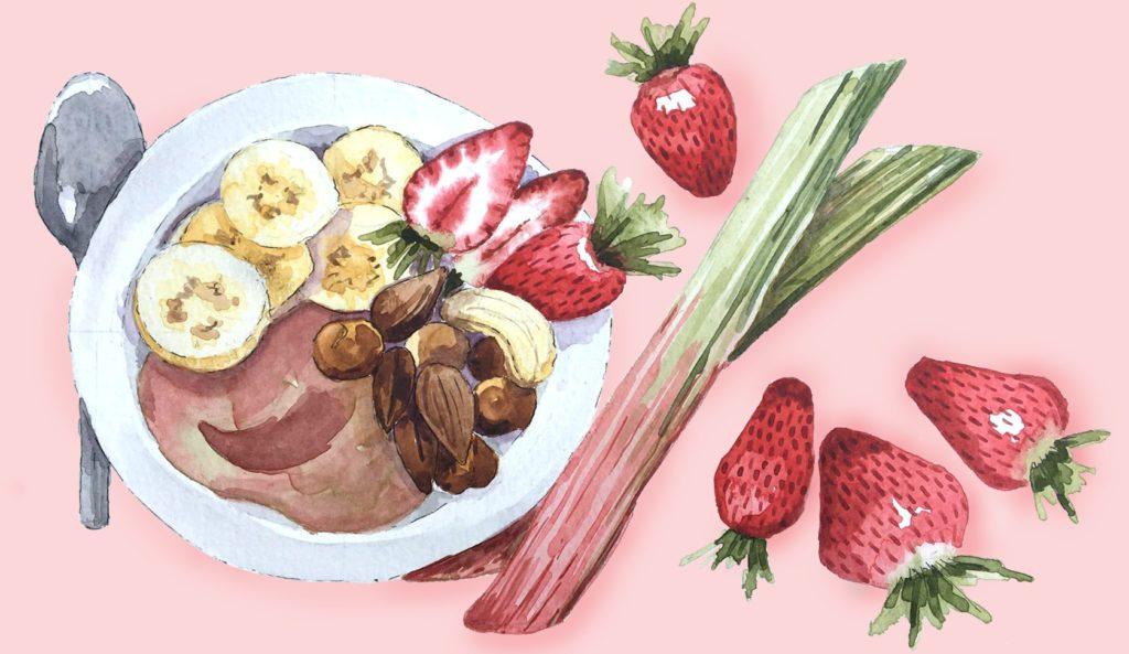fraises rhubarbe anti grignotage
