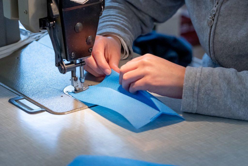 couture masque bleu CIT Dessaint Amiens